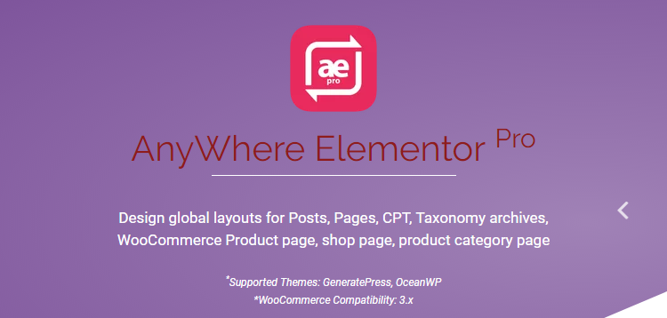 Features of AnyWhere Elementor Pro WordPress Plugin