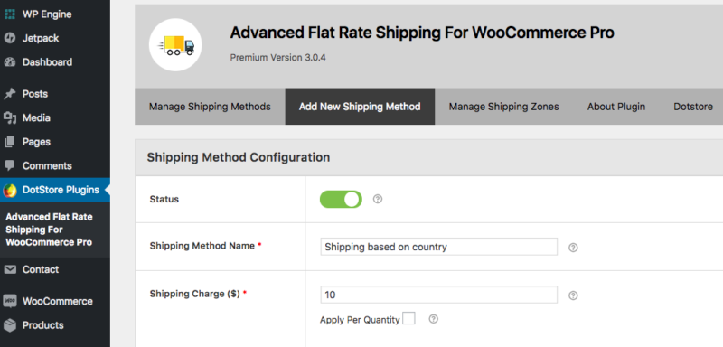 Advanced Flat Rate Shipping for WooCommerce Pro features