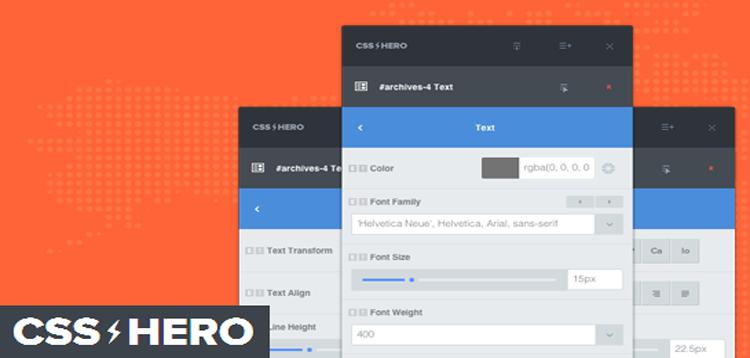 CSS Hero PRO features