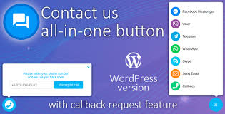 Contact us all-in-one button features