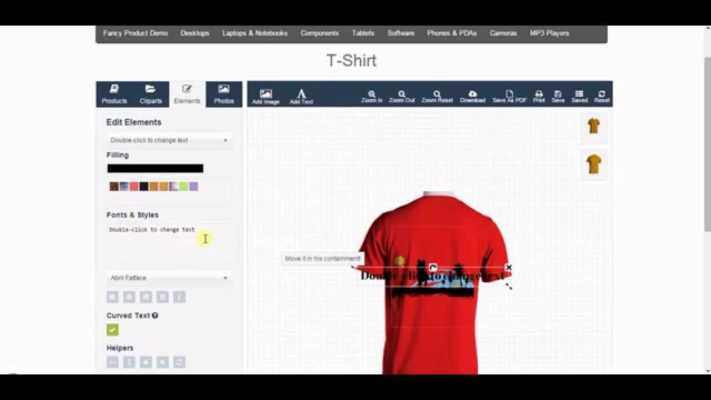 Fancy Product Designer features