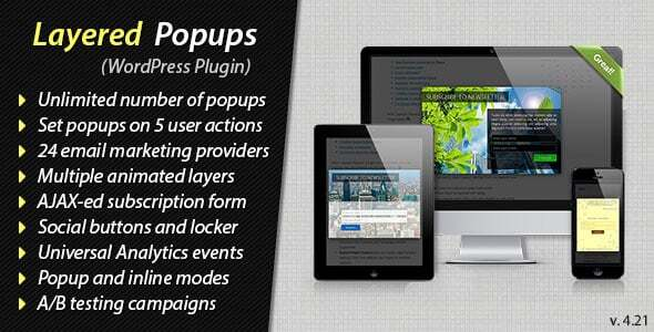 Features of Layered Popups