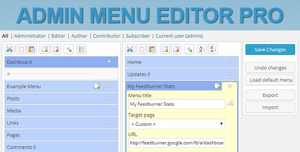 How Admin Menu Editor Pro works