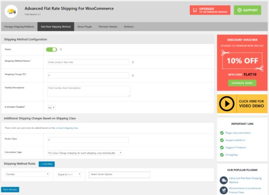 How Advanced Flat Rate Shipping for WooCommerce Pro works