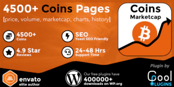 Coin Market Cap & Prices- WordPress Cryptocurrency Plugin