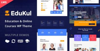 Edukul - Online Courses WordPress Theme