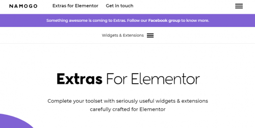 Elementor Extras - Do more with Elementor