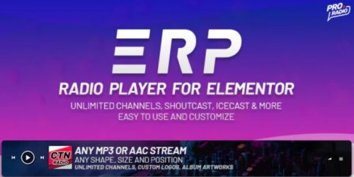 Erplayer - Radio Player for Elementor