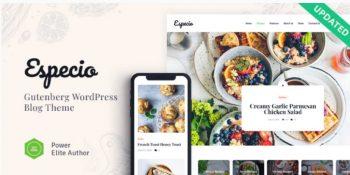 Especio - Personal Gutenberg Food Blog WordPress Theme