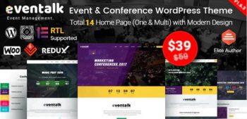EvnTalk - Event Conference WordPress Theme