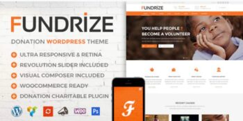 Fundrize - Responsive Donation & Charity Theme
