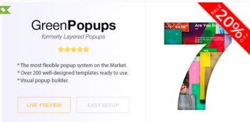 Green Popups (formerly Layered Popups) - Popup Plugin for WordPress