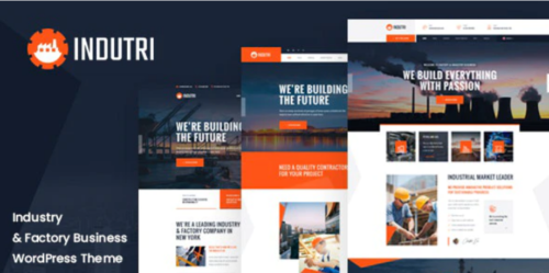 Indutri - Factory & Industrial WordPress Theme