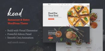 Koad - Restaurant & Bistro WordPress Theme