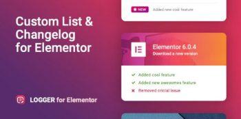 Logger - Changelog & Custom List for Elementor