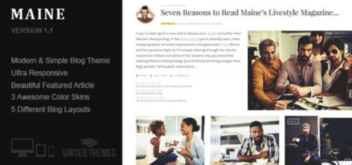 Maine - A Responsive WordPress Blog Theme