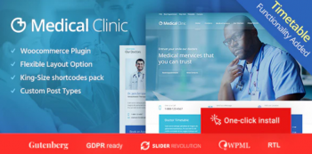 Medical Clinic - Health & Doctor Medical Theme