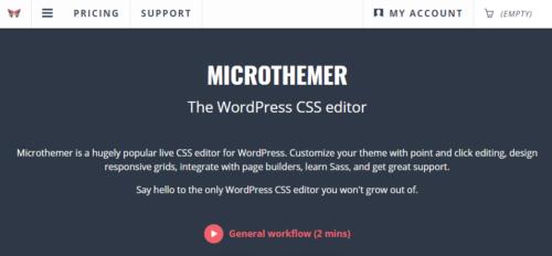 MicroThemer - WordPress CSS Editor
