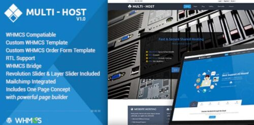 Multi Hosting v2.2 - WHMCS WordPress Theme