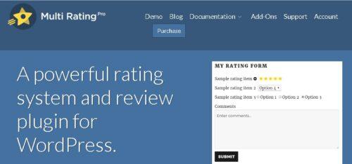 Multi Rating Pro - WordPress Plugin