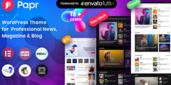 News Magazine Papr - News Magazine WordPress Theme