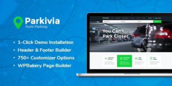 Parkivia - Auto Parking & Car Maintenance WordPress Theme