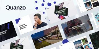 Quanzo- Personal Portfolio WordPress Theme