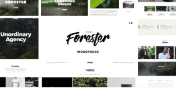 The Forester - WordPress Minimalist Portfolio Theme