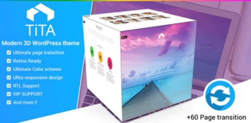 Tita 3D - Modern WordPress Theme