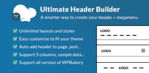 Ultimate Header Builder - Addon WPBakery Page Builder