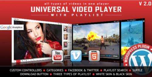 Universal Video Player - WordPress Plugin