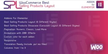 WooCommerce Best Selling Products Layout for Elementor