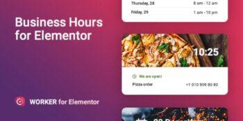 Worker v1.0.1 - Business hours widget for Elementor