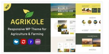 Agrikole - Responsive WordPress Theme for Agriculture & Farming