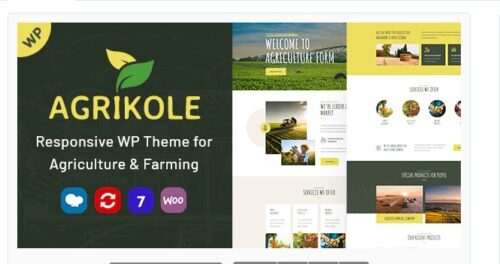 Agrikole - Responsive WordPress Theme for Agriculture & Farming
