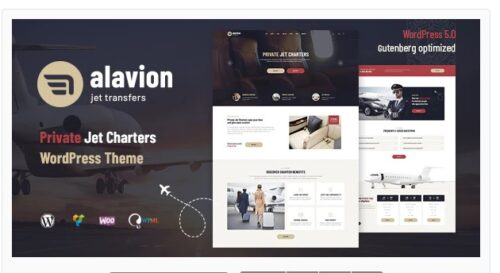 Alavion - Private Jet Charters WordPress Theme