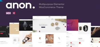 Anon - Multipurpose Elementor WooCommerce Theme