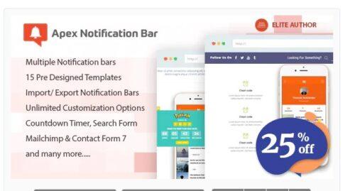 Apex Notification Bar - Responsive Notification Bar
