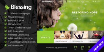 Blessing- Responsive Theme for Church Websites