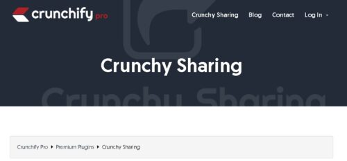 Crunchy Sharing - WordPress Fastest Social Sharing Plugin