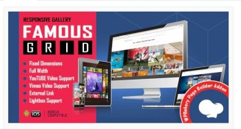Famous - Responsive Image & Video Grid Gallery for WPBakery Page Builder