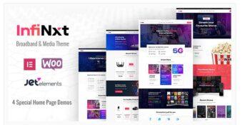 InfiNxt- Satellite TV, Internet Service Provider WordPress Theme