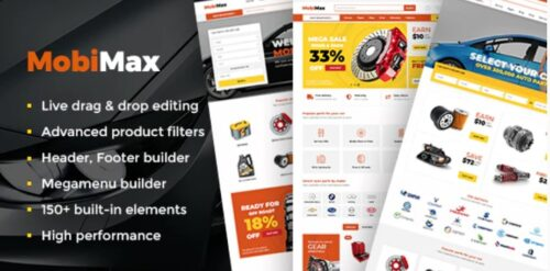 Mobimax v3.2 - Auto Parts WordPress Theme + WooCommerce Shop