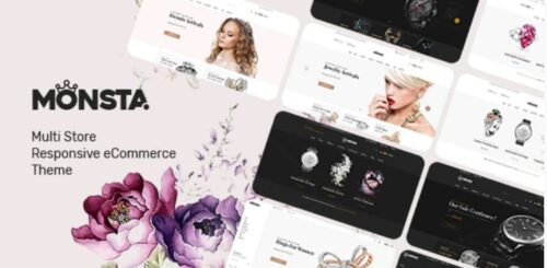 Monsta Jewelry Theme for WooCommerce WordPress