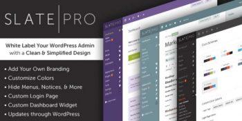 Slate Pro - A White Label WordPress Admin Theme