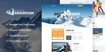 Snow Mountain - Ski Resort & Snowboard School WordPress Theme