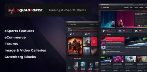 SquadForce - eSports Gaming WordPress Theme (formerly Good Games)