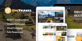 UniTravel - Travel Agency & Tourism Bureau WordPress Theme