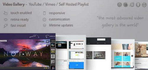 Video Gallery Wordpress Plugin /w YouTube, Vimeo