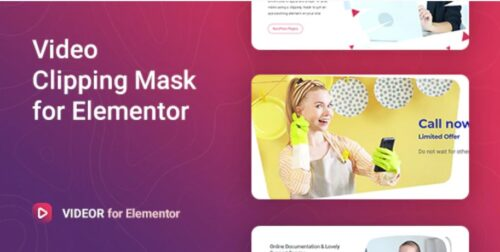 Videor - Video Clipping Mask for Elementor